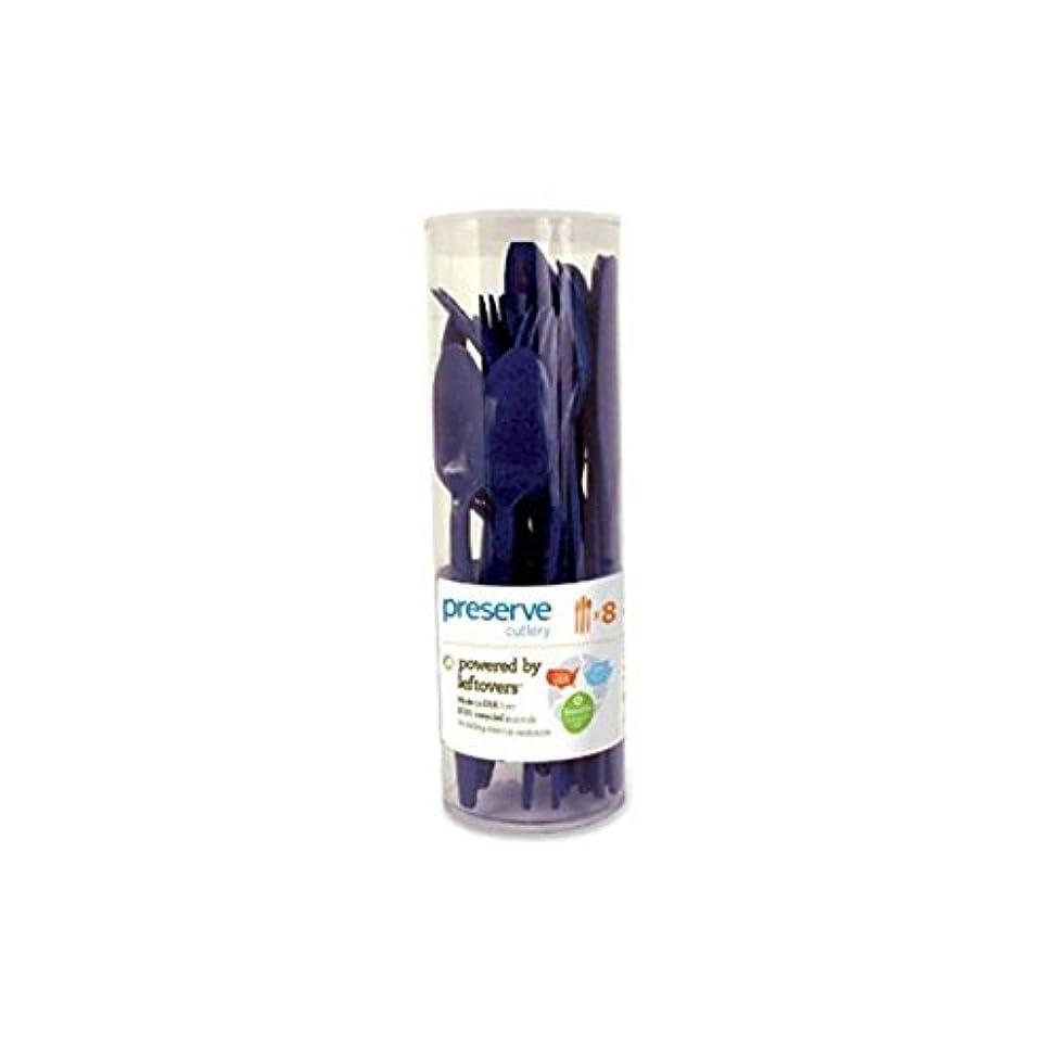 気取らないモーテル郡Preserve Cutlery (8 Set) - Midnight Blue 24 Pack(S) by Preserve