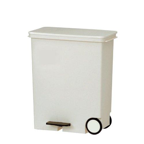 RoomClip商品情報 - Like-it ゴミ箱 オルア ヨコ型分別ペダルペール ホワイト 約33L
