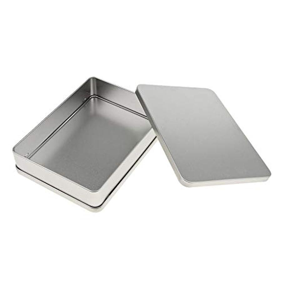 必需品役割用心空缶 長方形 容器 収納 便利 2サイズ選べ - 18.8 x 13.8 x 3.8 cm