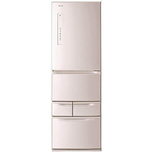 東芝 冷凍冷蔵庫 VEGETA 410L GR-K41G(NP) ピンクゴールド