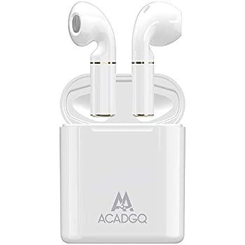 【ACADGQ 最新型Bluetooth 5.0+EDR搭載】BluetoothイヤホンTWS 完全ワイヤレスイヤホン Hi-Fi高音質 IPX5防水規格左右分離型 Bluetooth自動ON/OFF 片耳&両耳通話 充電収納ケース付き ヘッドホン超軽量ホワイト(白)