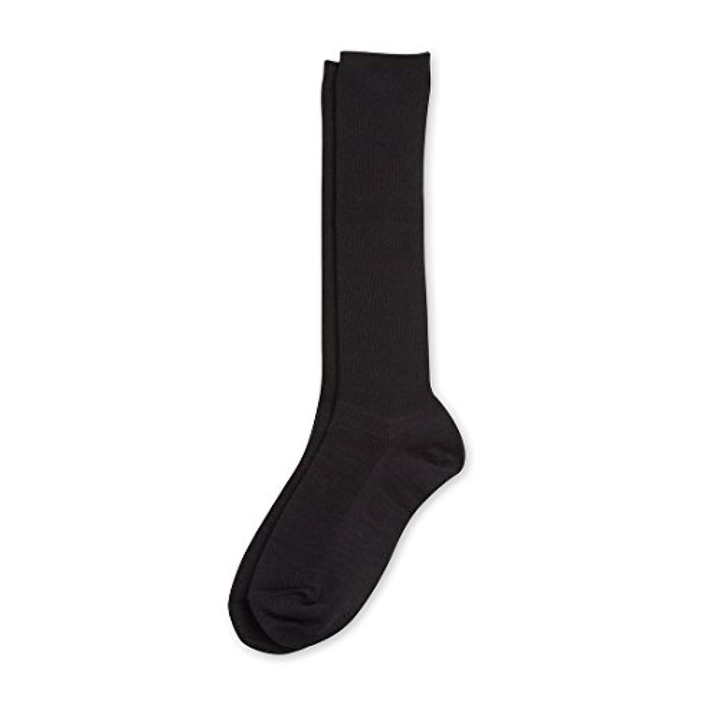 壁紙ピケくDeol(デオル) ハイソックス 女性用 日本製 靴下 黒 23cm-25cm