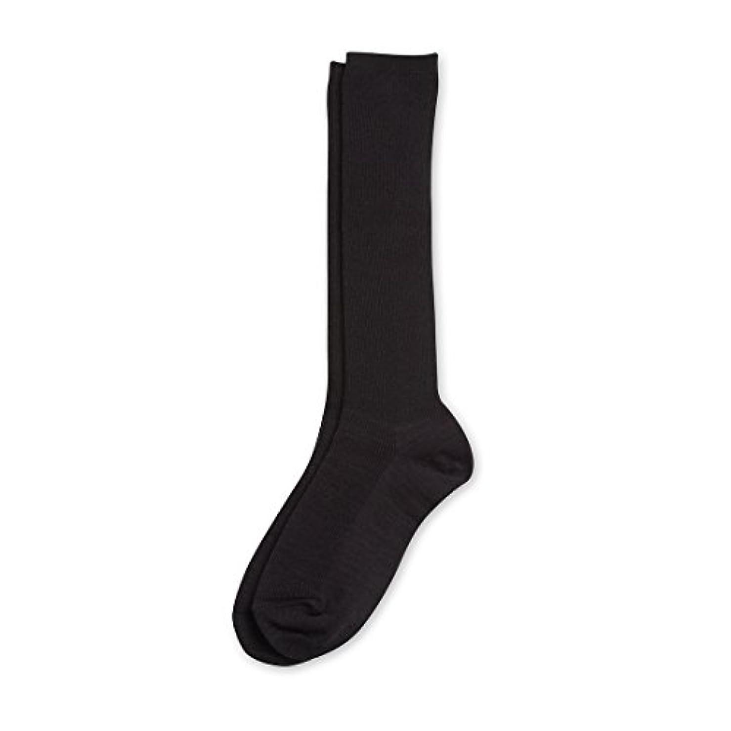 啓発するカビ地球Deol(デオル) ハイソックス 女性用 日本製 靴下 黒 23cm-25cm