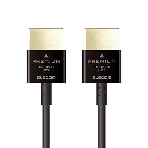 エレコム Premium HDMI ケーブル 4K/HDR対...