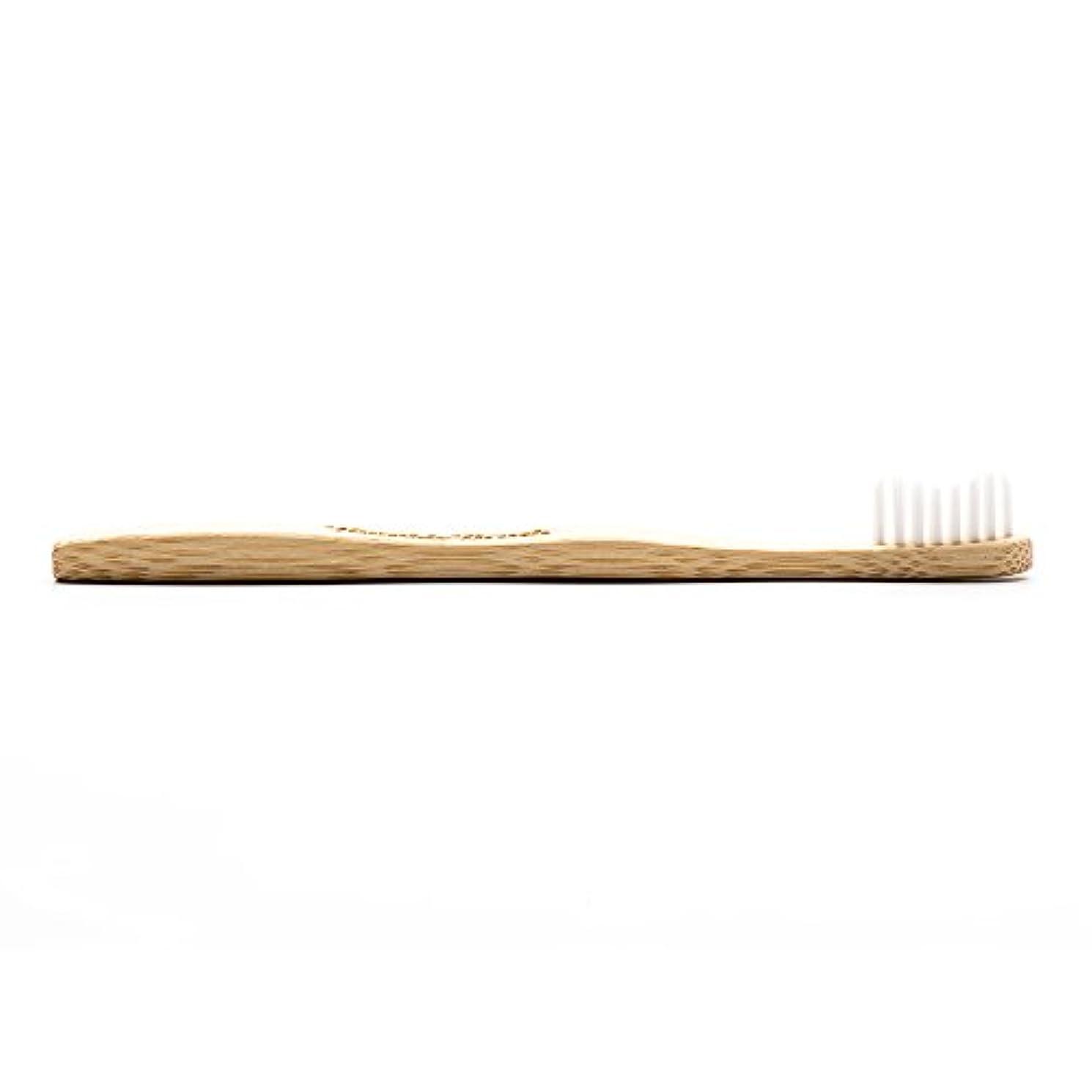 手つかずのほとんどの場合導出THE HUMBLE CO.(ザ?ハンブル?コー) HUMBLE BRUSH(ハンブルブラッシュ) 歯ブラシ キッズ ホワイト 15cm