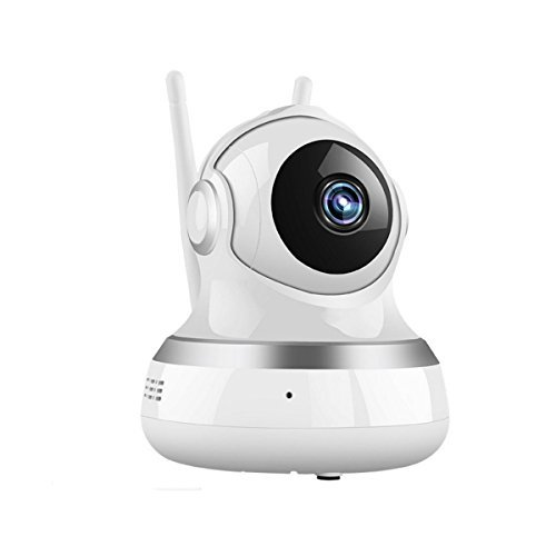 ネットワークカメラ EIVOTOR 防犯カメラ WIFI ベビーモニター 720P 100万画素 ワイヤレス監視カメラ 高画質 暗視撮影 双方向音声 動体検知機能 防犯 監視 介護 ペット留守番 ホワイト 一年保証&電子版日本語説明書