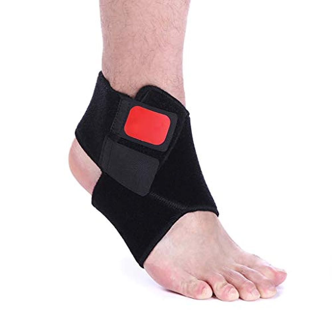足首サポート、調整可能な足首ブレース通気性ナイロン素材超弾性と快適な通気性バスケットボールランニング足首捻rain男性女性,M