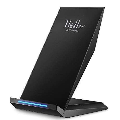 ワイヤレス充電器 Thinkbee qi 充電器 qiワイヤレス充電器 スマホ 充電器 Quick Charge 急速充電器 2.0対応急速充電器 無線充電スタンド Qi承認済み iPhone Xs/Xs Max/Xr/X / 8 / 8 Plus、Gal