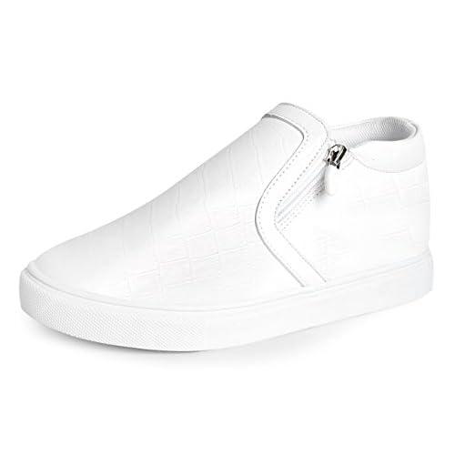 【エムエヌエクス15】MNX15 mario white 6cm シークレットシューズ・ヒールスニーカー・ヒールアップ・ウォーキングシューズ (25.5, white)