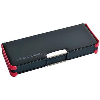 デビカ 筆箱 ふでばこ 筆入れ 男の子 ブラック 大容量 コンパクト スリム 両面type (耐衝撃 じょうぶ な ショックガード) 053006