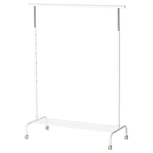 IKEA(イケア) RIGGA  洋服ラック, ホワイト