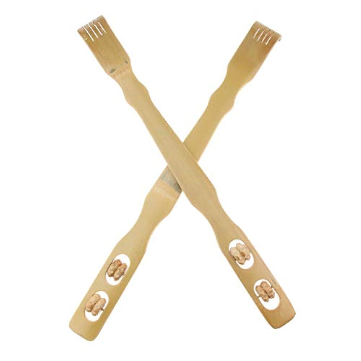 今晩裁定接地2個 バックスクラッチャー 孫の手 木製 リラックス プレゼント