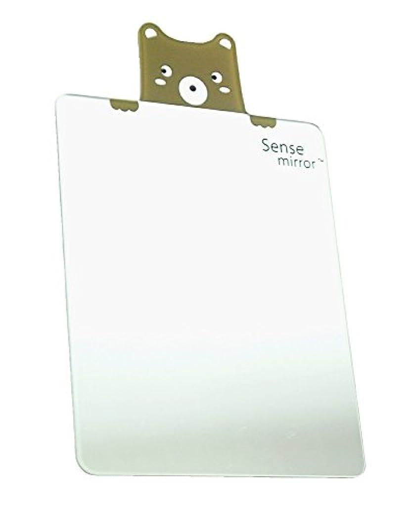 ひも移植人工的なミラー われない コンパクトミラー 鏡 (スクエアベア)