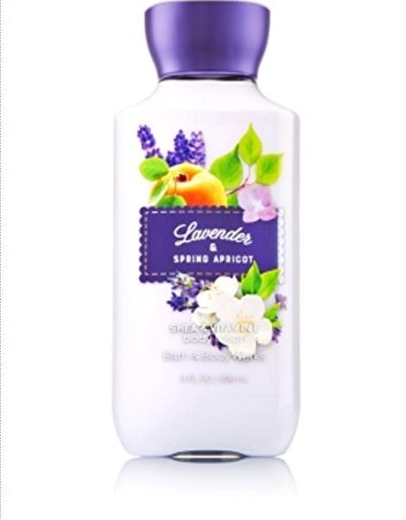 公時間生き返らせるバス&ボディワークス ラベンダー&スプリングアプリコット ボディローション Lavender & Spring Apricot body lotion [並行輸入品]