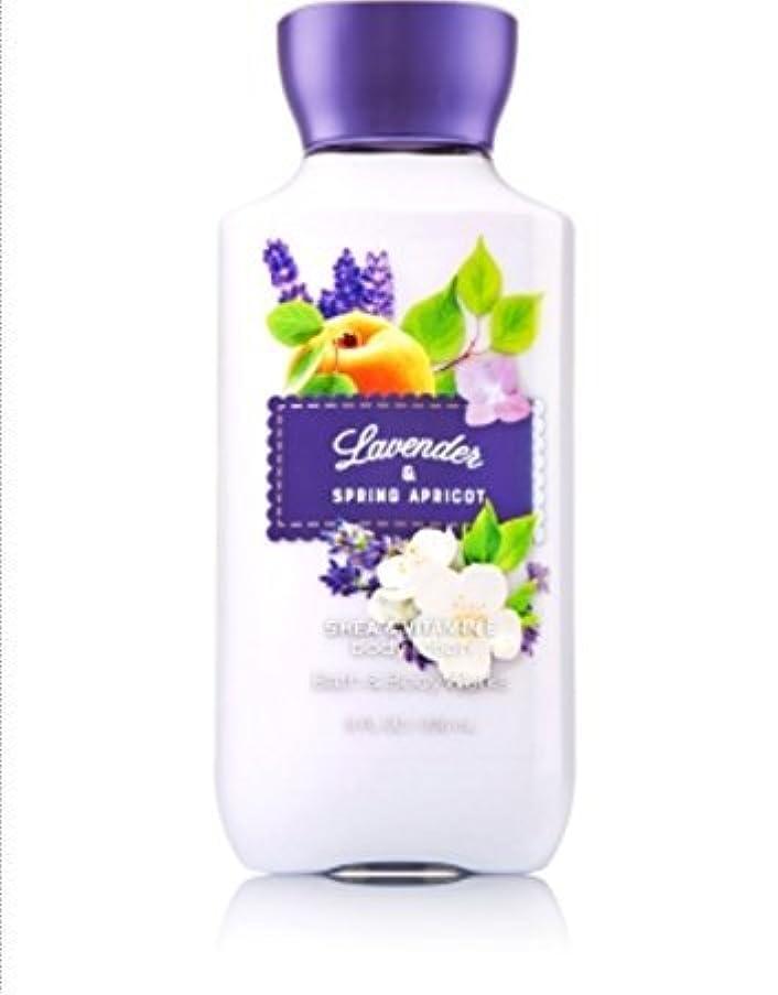 平らにする静けさブロックするバス&ボディワークス ラベンダー&スプリングアプリコット ボディローション Lavender & Spring Apricot body lotion [並行輸入品]