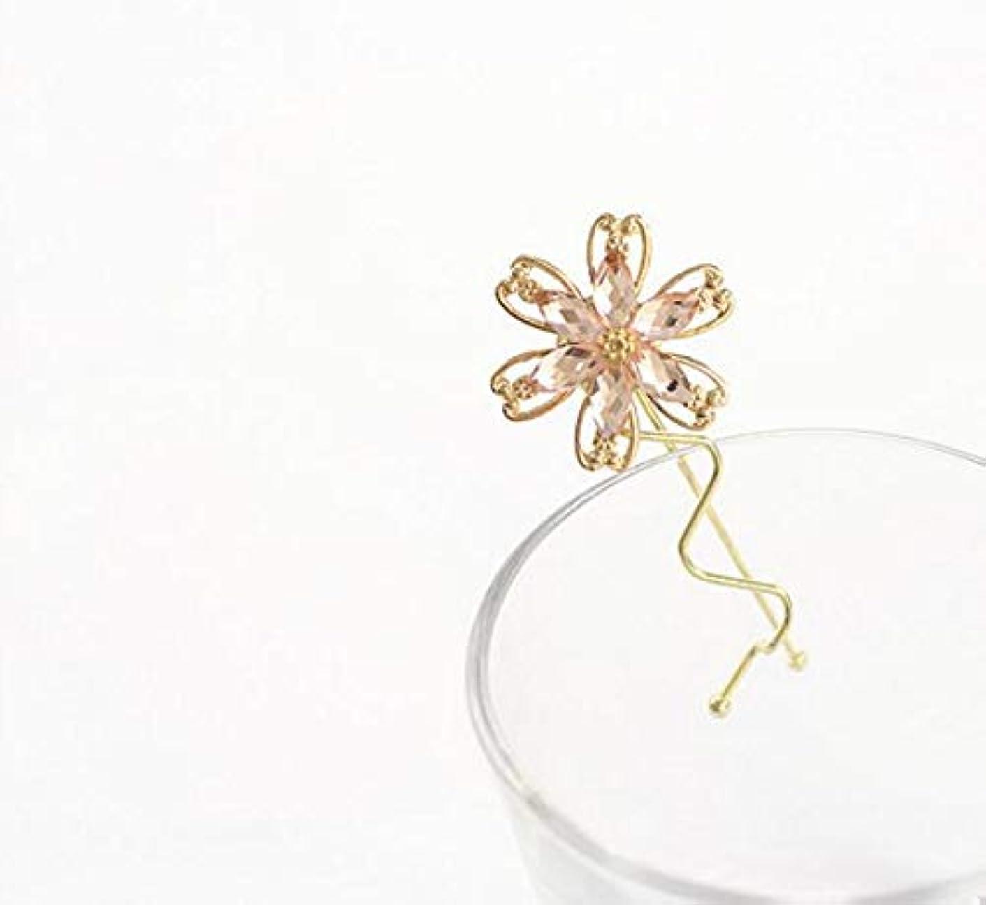 HuaQingPiJu-JP ファッションシンプルな桜のヘッドウェア子供のヘアピン便利なヘアクリップ(ピンク)