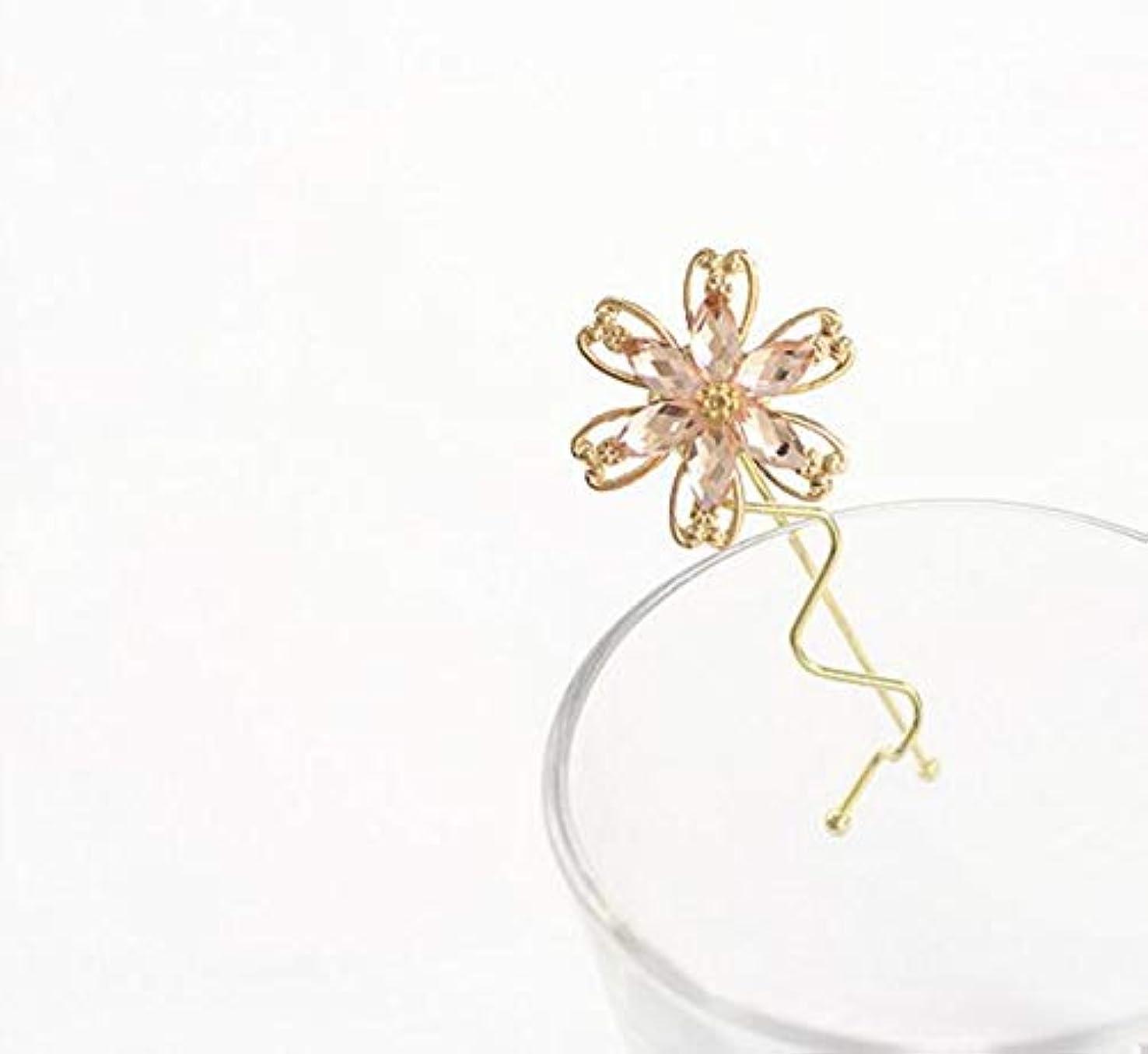 旧正月普通の持続するHuaQingPiJu-JP ファッションシンプルな桜のヘッドウェア子供のヘアピン便利なヘアクリップ(ピンク)