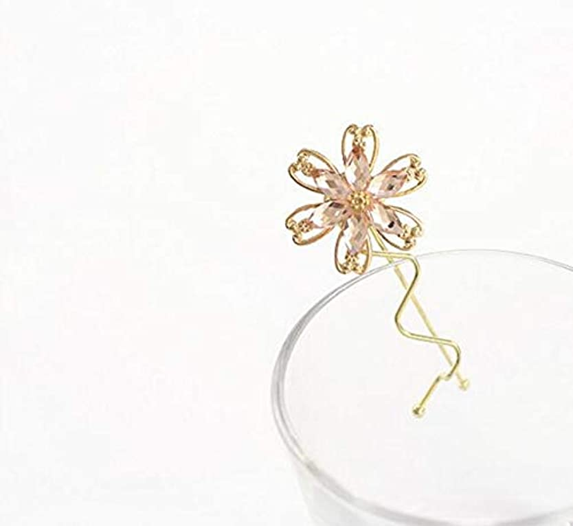 ティッシュクラスパキスタン人HuaQingPiJu-JP ファッションシンプルな桜のヘッドウェア子供のヘアピン便利なヘアクリップ(ピンク)