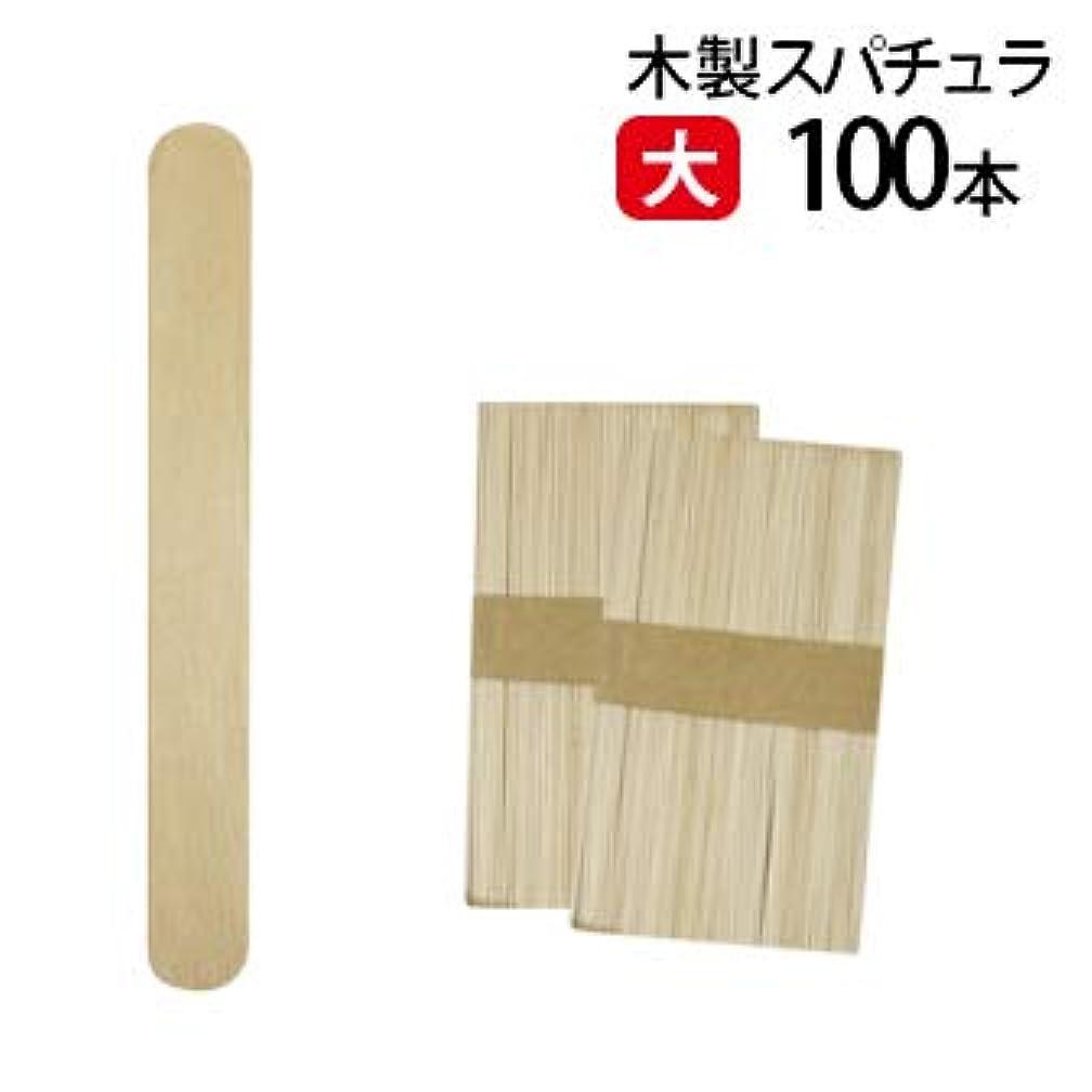 クリケット反響する混合した大 ブラジリアンワックス スパチュラ 100本 Aタイプ(個別梱包なし)