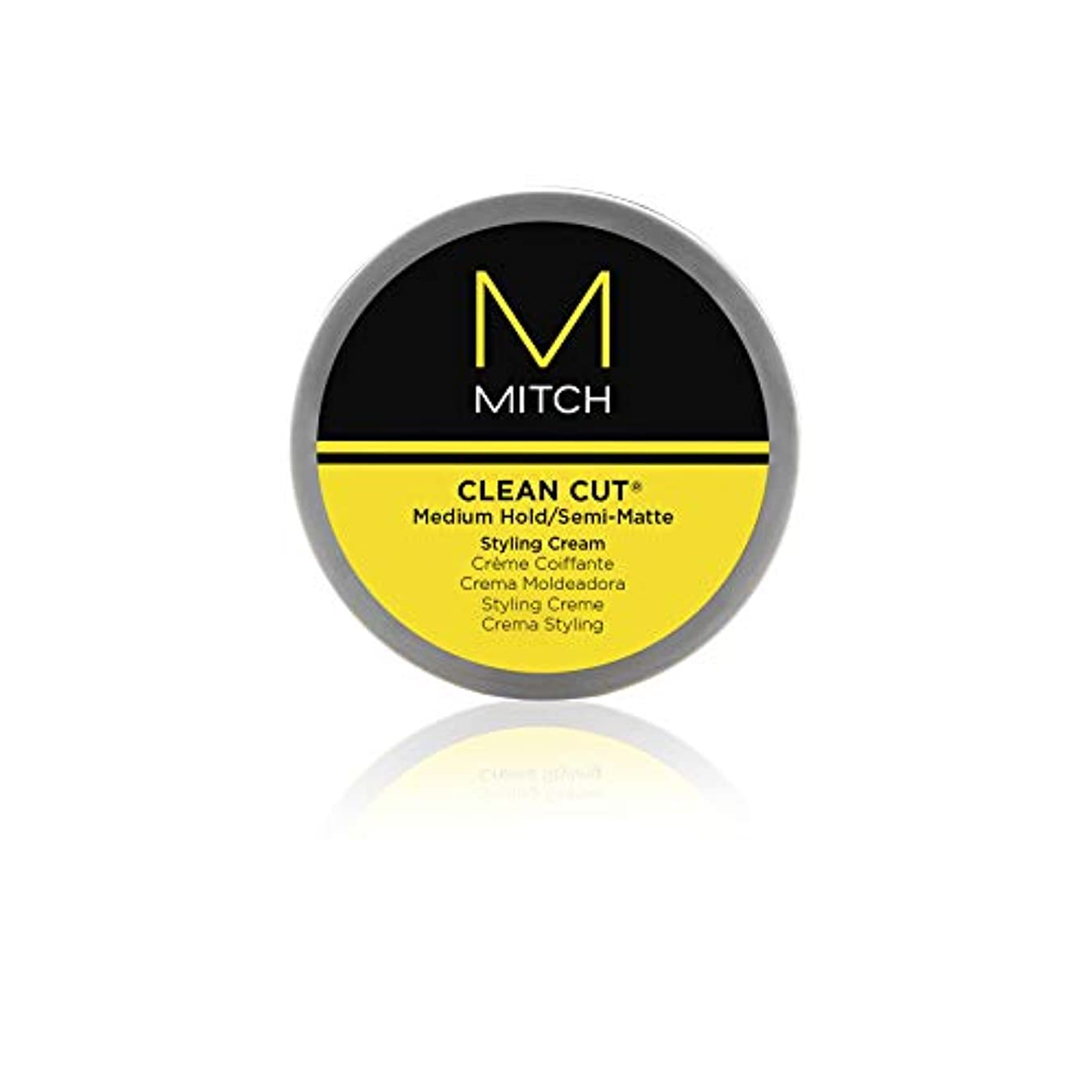 に沿ってぶら下がる甲虫Mitch Clean Cut Medium Hold/Semi-Matte Styling Cream