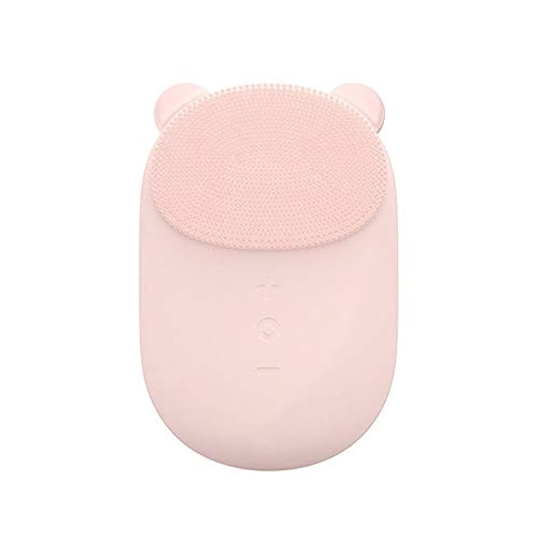 限り異常な速い洗顔ブラシ すべての肌のアンチエイジングフェイシャル剥離のためのフェイシャルクレンジングブラシフェース振動マッサージャー充電式ディープクリーニング ディープクレンジングスキンケア用 (色 : ピンク, サイズ : 10.6...