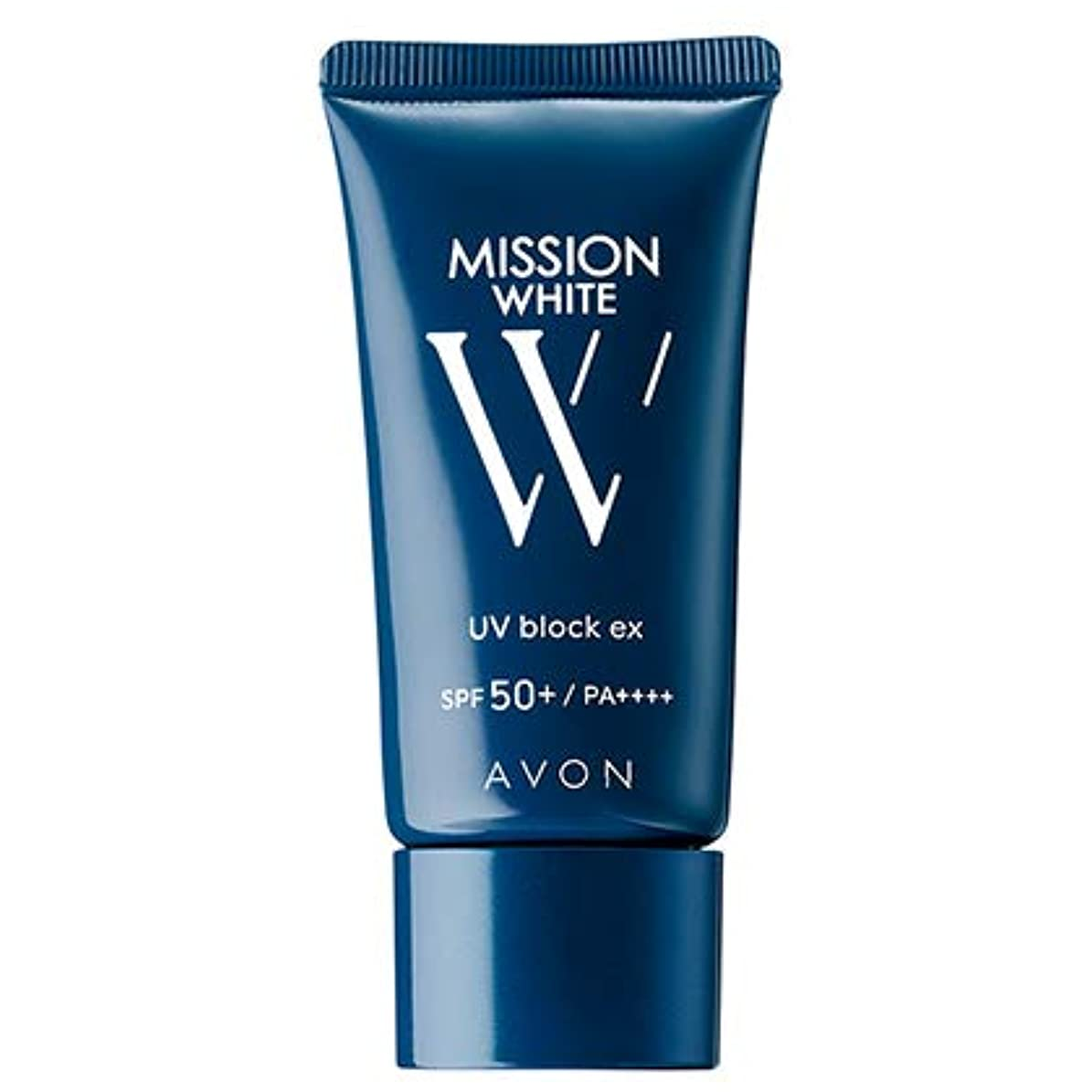 絶対にウェイタークレデンシャルエイボン ミッション ホワイト UVブロック EX(SPF50+/PA++++)(医薬部外品) 30g