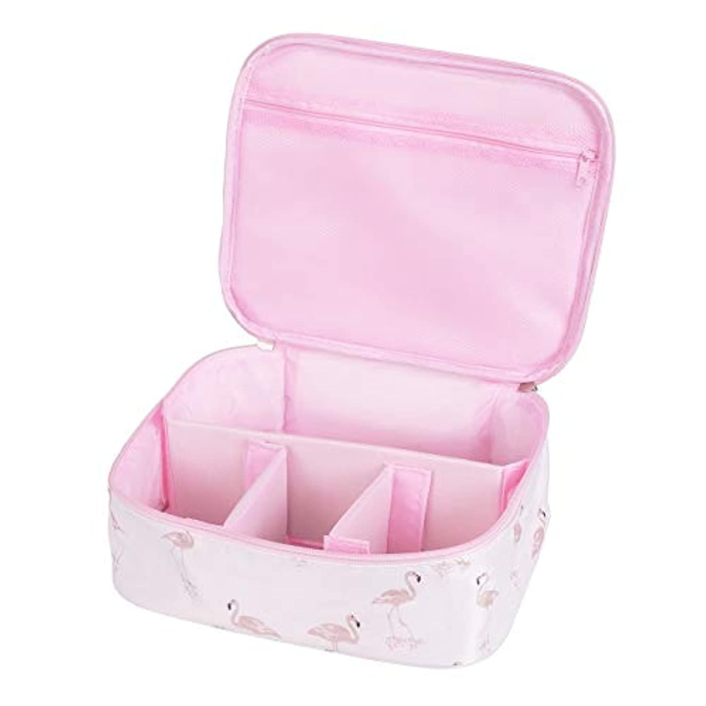解き明かすブレーク寛容[CAWKAY] メイクボックス 旅行用化粧ケース コスメ バッグ ボックス トラベル化粧ポーチ メイクブラシ 小物入れ 収納