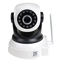 VideoSecu Baby Monitor Audio Video IP Wireless Day Night Vision Security Camera with Pan Tilt Wi-Fi for iPhone, iPad, Android Phone or PC Remote View 1U2 [並行輸入品]