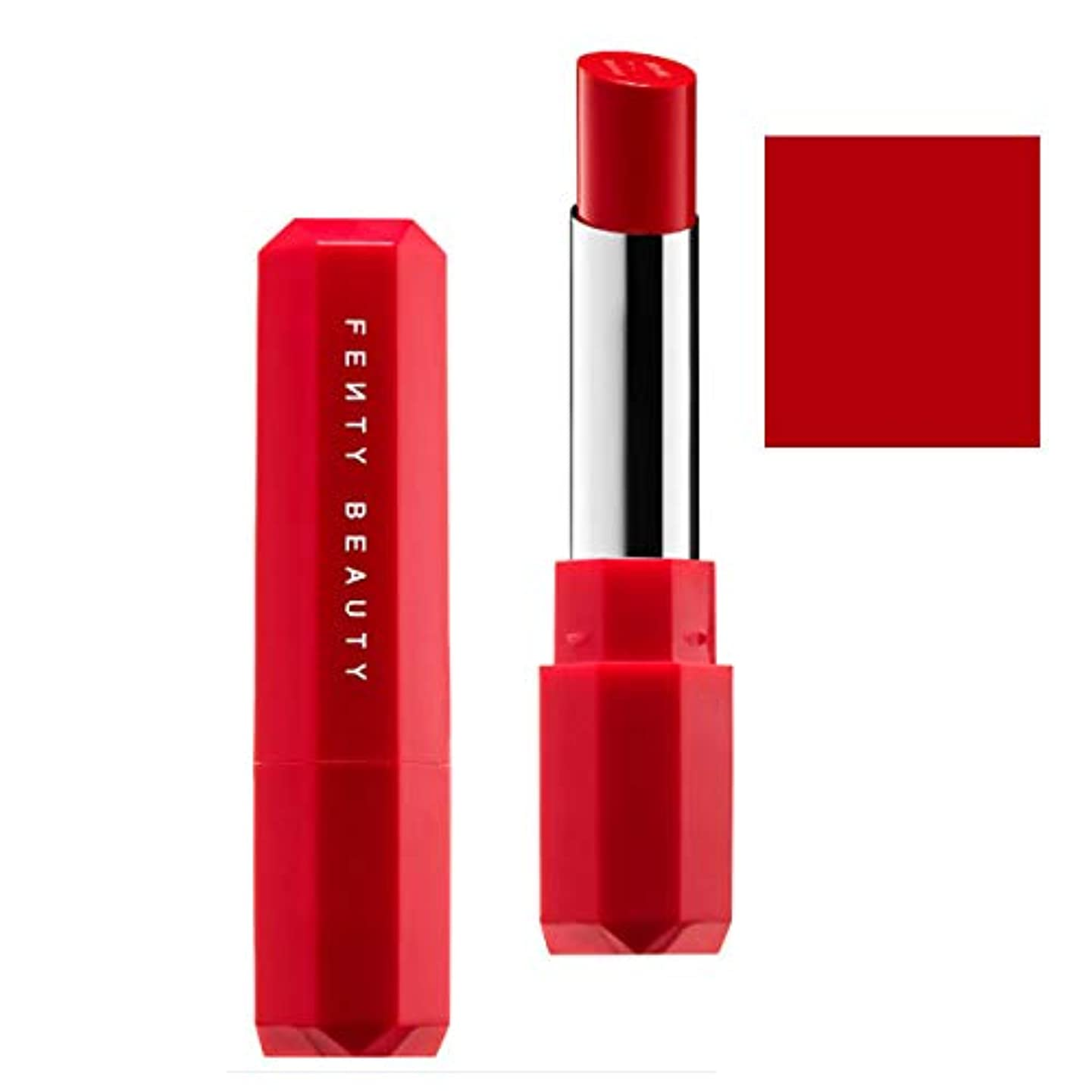 致命的な降雨パウダーFENTY BEAUTY BY RIHANNA,New!!, 限定版 limited-edition, Poutsicle Juicy Satin Lipstick - Hot Blooded [海外直送品] [並行輸入品]