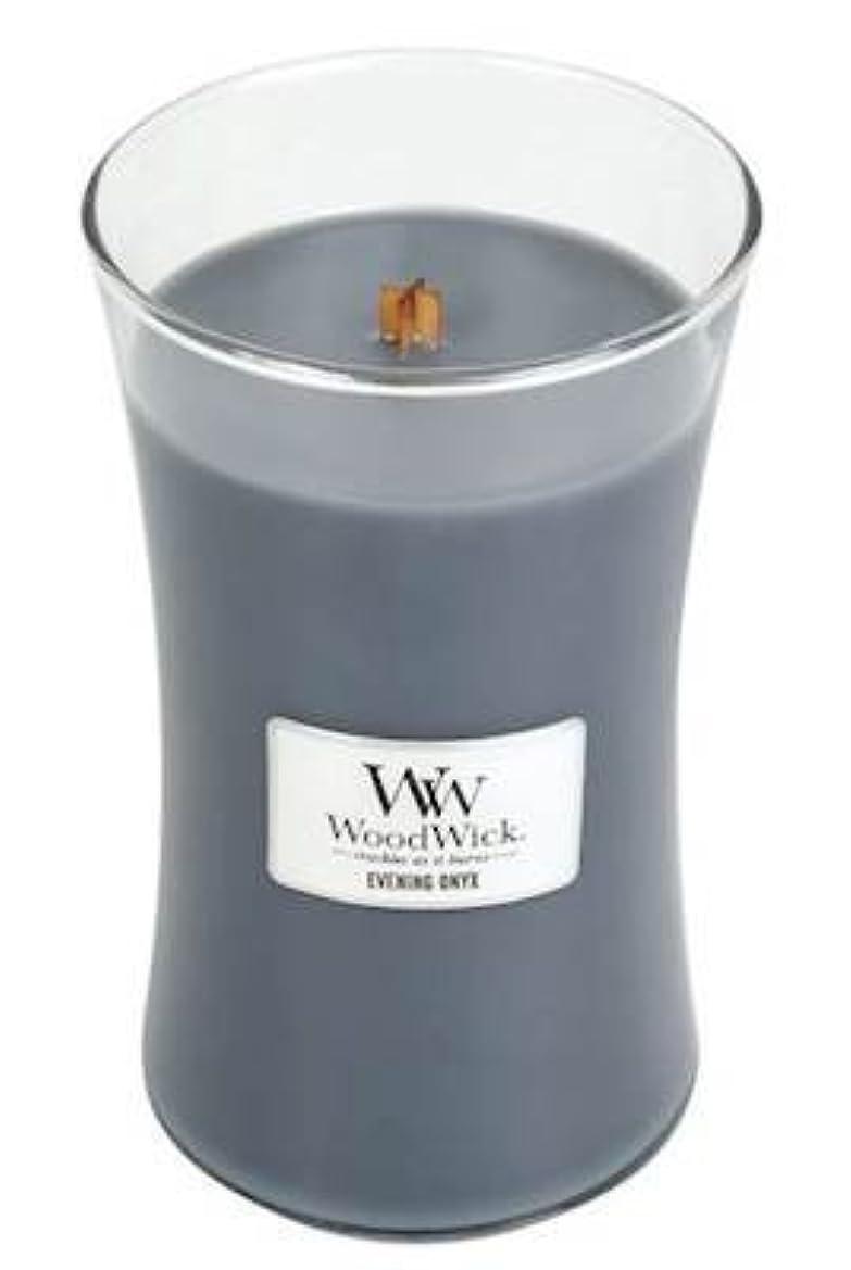 スイング詐欺このイブニングオニキスWoodWick 22 oz Large砂時計Jar Candle Burns 180時間