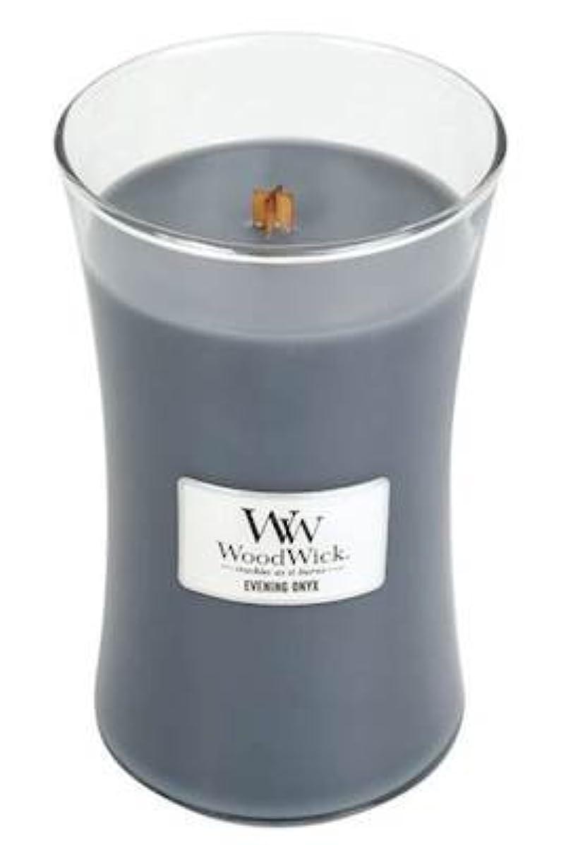 克服するスキャンダラス自己イブニングオニキスWoodWick 22 oz Large砂時計Jar Candle Burns 180時間
