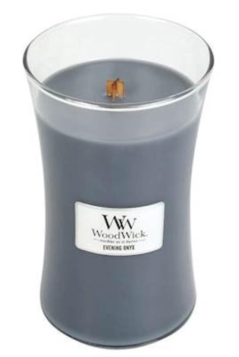 復活させる電子レンジコジオスコイブニングオニキスWoodWick 22 oz Large砂時計Jar Candle Burns 180時間