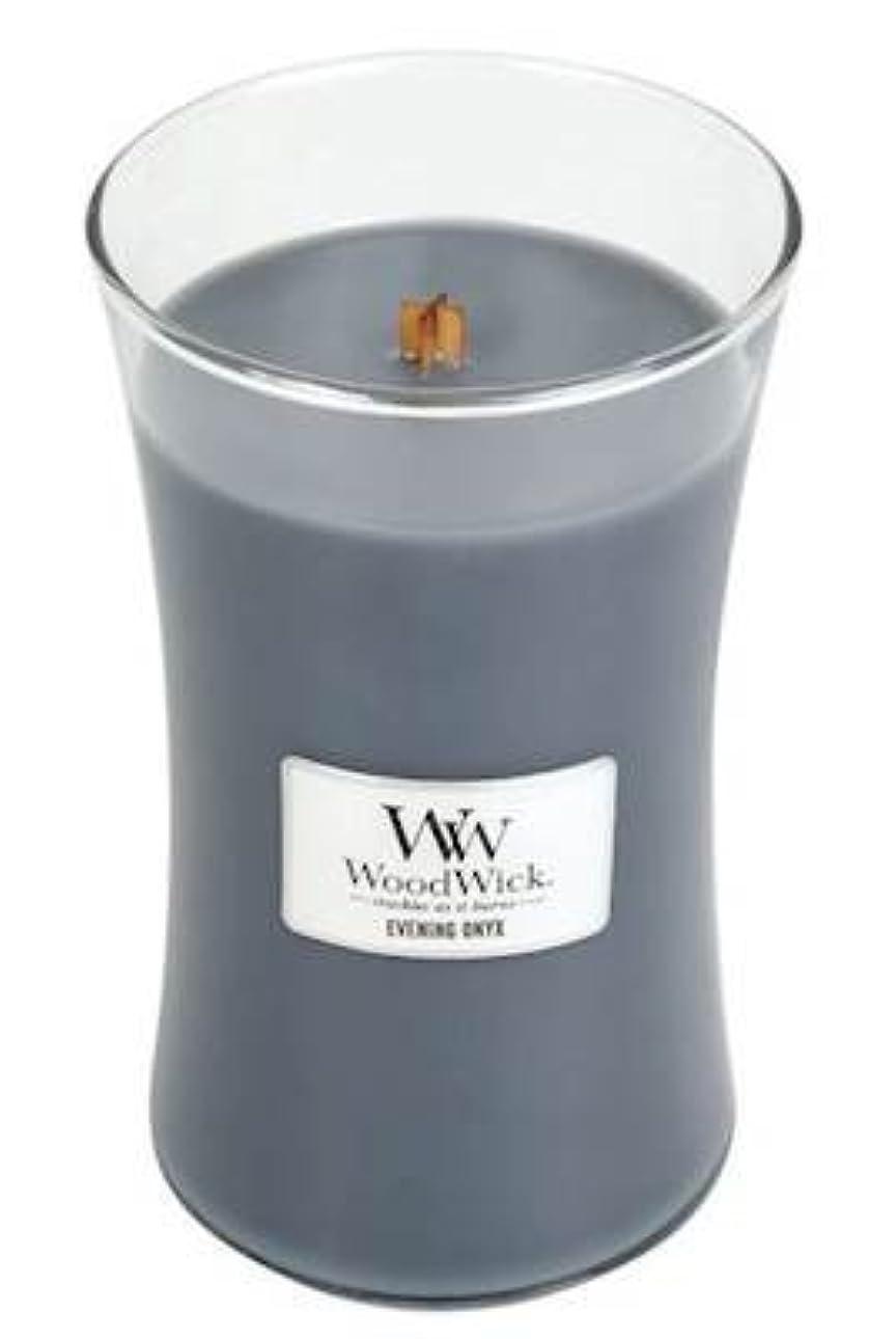 話熟達したご予約イブニングオニキスWoodWick 22 oz Large砂時計Jar Candle Burns 180時間