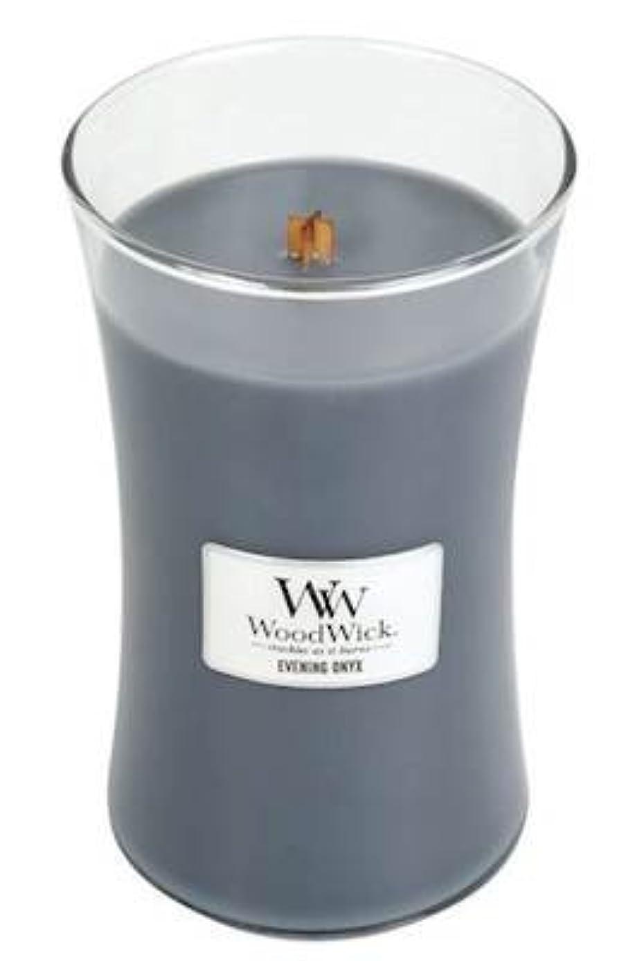 トイレマチュピチュ欺イブニングオニキスWoodWick 22 oz Large砂時計Jar Candle Burns 180時間