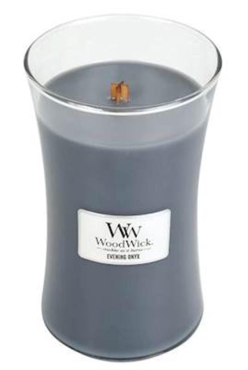 応援する理論テントイブニングオニキスWoodWick 22 oz Large砂時計Jar Candle Burns 180時間