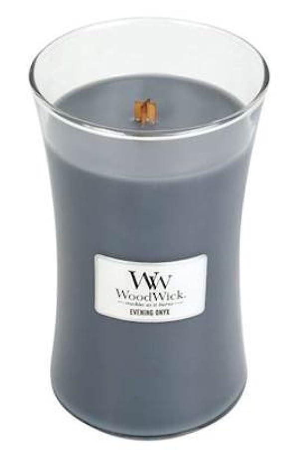可塑性アボート変更可能イブニングオニキスWoodWick 22 oz Large砂時計Jar Candle Burns 180時間