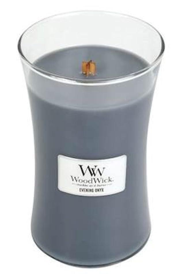 防衛趣味カニイブニングオニキスWoodWick 22 oz Large砂時計Jar Candle Burns 180時間