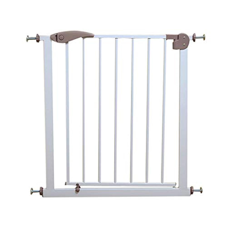 保護フェンスの家の子供の安全門 階段のレールのフェンス ペットの犬のガードレールの安全フェンス無料のパンチング (Color : A, Size : 76cm)