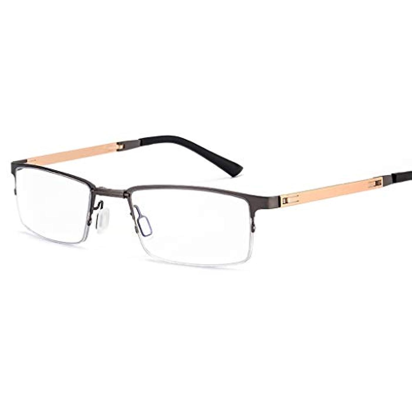 LCSHAN アンチブルーライト折りたたみ老眼鏡ポータブルウルトラライトHD TR 90抗疲労+2.0 (Color : Gray, Size : 250 degrees)