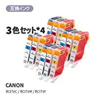 CANON キヤノンBCI-7E/3MP対応汎用インク 3色セット×4セット JAN:4580682444232