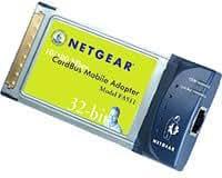 NETGEAR FA511 10/100 CardBus NICカード