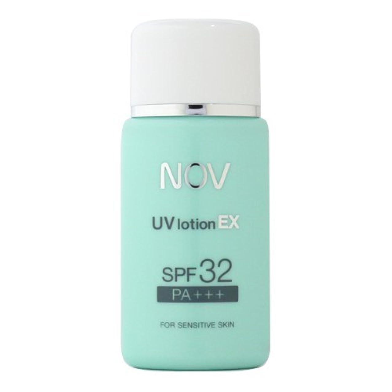 毛皮影響力のあるトラブルNOV ノブ UVローション EX SPF32 PA+++ 35ml