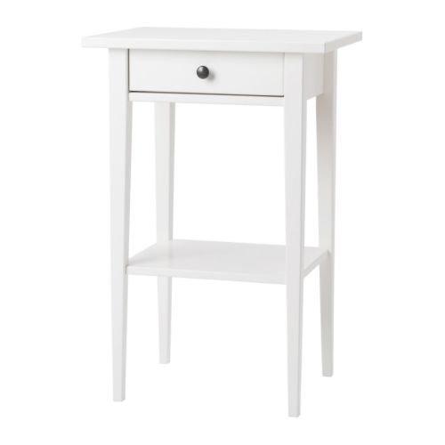 IKEA(イケア) HEMNES ホワイト 00178890 ベッドサイドテーブル、ホワイト