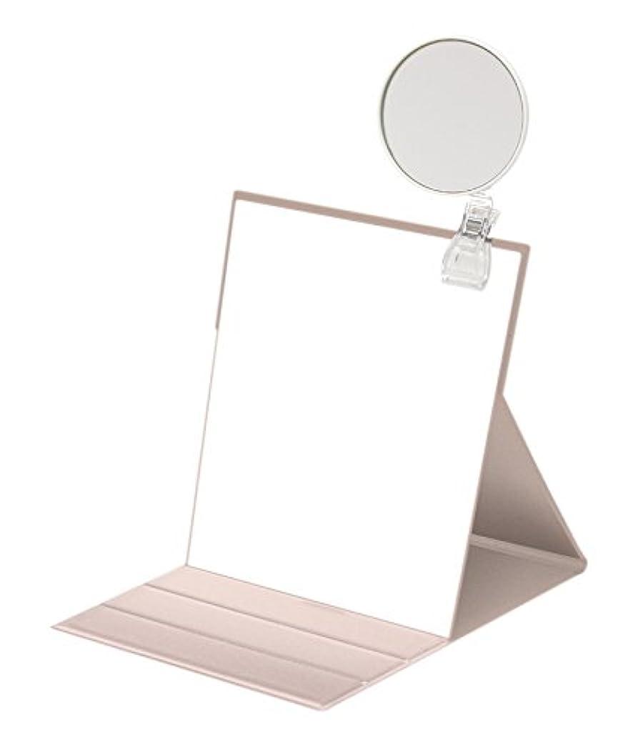 文明化読みやすさ造船ナピュアミラー 3倍拡大鏡付きプロモデル折立ナピュアミラーL ピンクゴールド HP-35×3