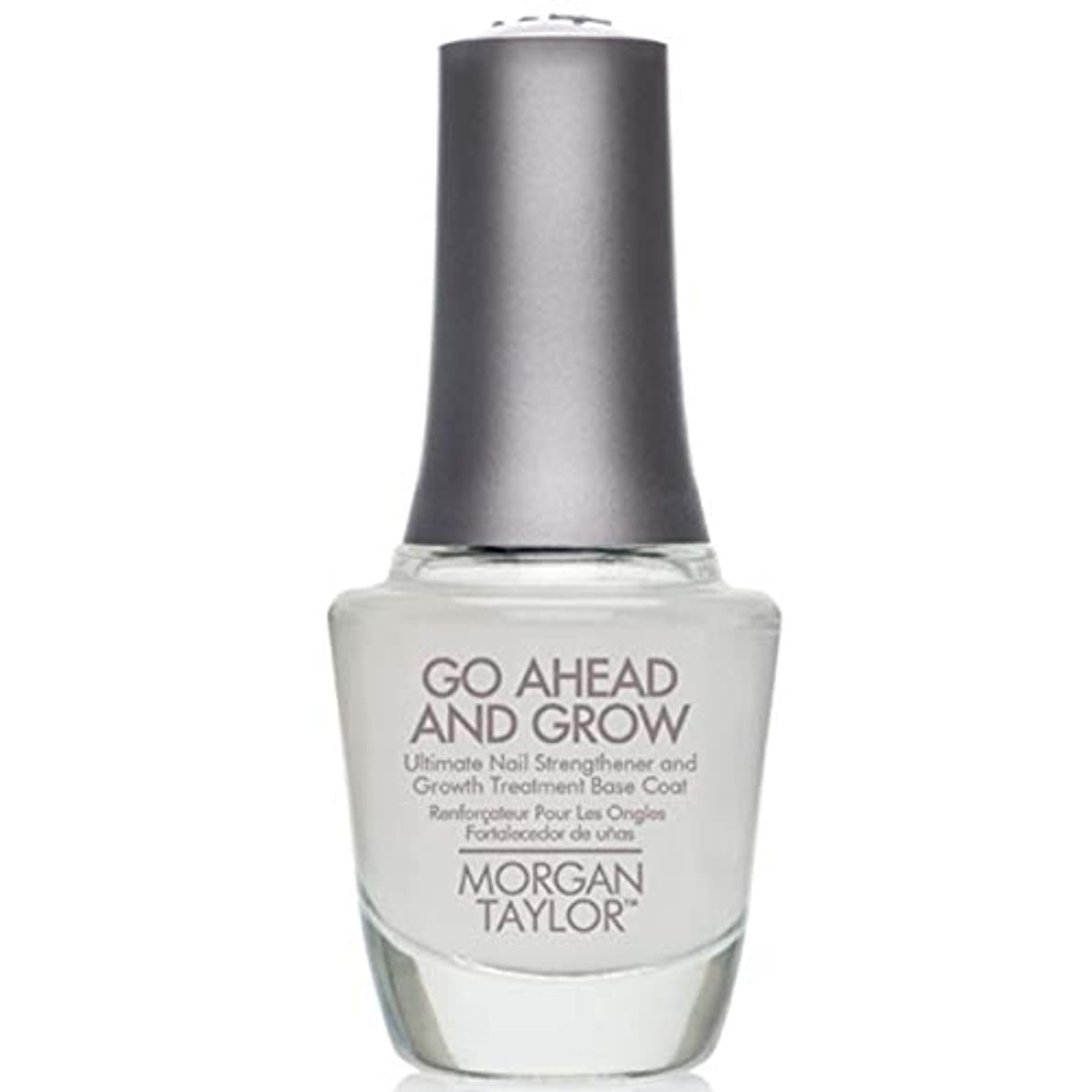 領域悪意のある考古学的なMorgan Taylor - Go Ahead And Grow - Fortifying Nail Treatment Base Coat - 15 mL / 0.5oz
