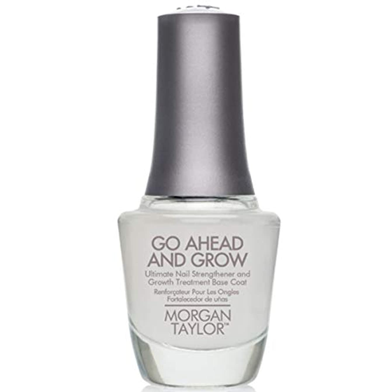 抵抗力がある実験室ショートカットMorgan Taylor - Go Ahead And Grow - Fortifying Nail Treatment Base Coat - 15 mL / 0.5oz