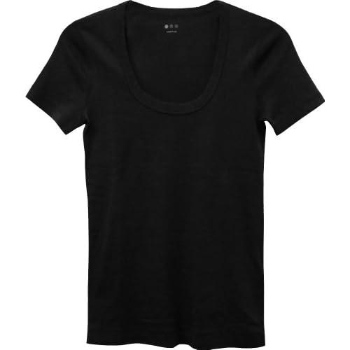 スリードッツ Uネック 半袖 Tシャツ M/ブラック [並行輸入品]