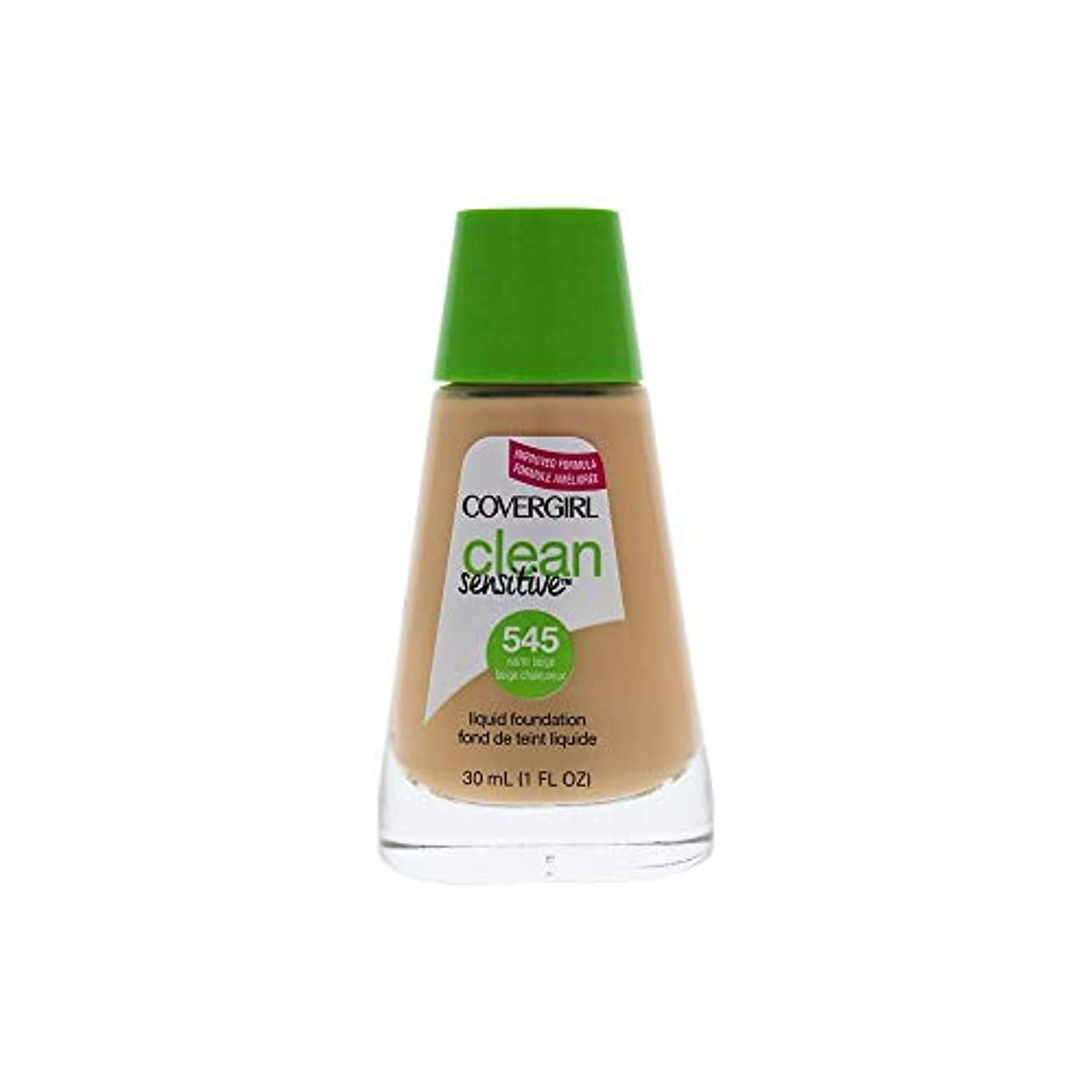 気づく第努力Clean Sensitive Liquid Foundation - # 545 Warm Beige