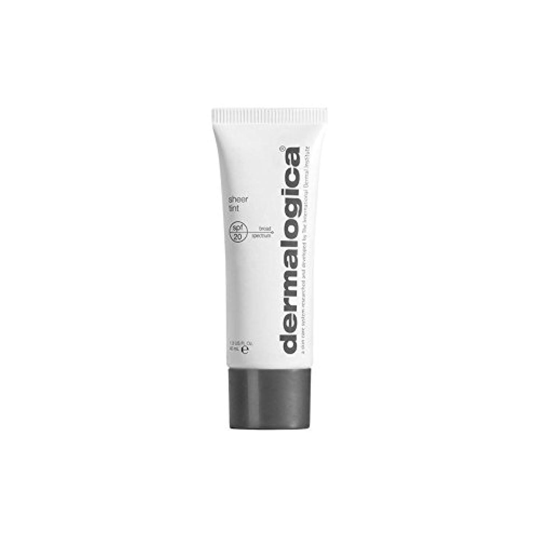 ブランチ均等に断線Dermalogica Dark Sheer Tint Moisture (40ml) (Pack of 6) - ダーマロジカ暗い色合い薄手の水分(40ミリリットル) x6 [並行輸入品]