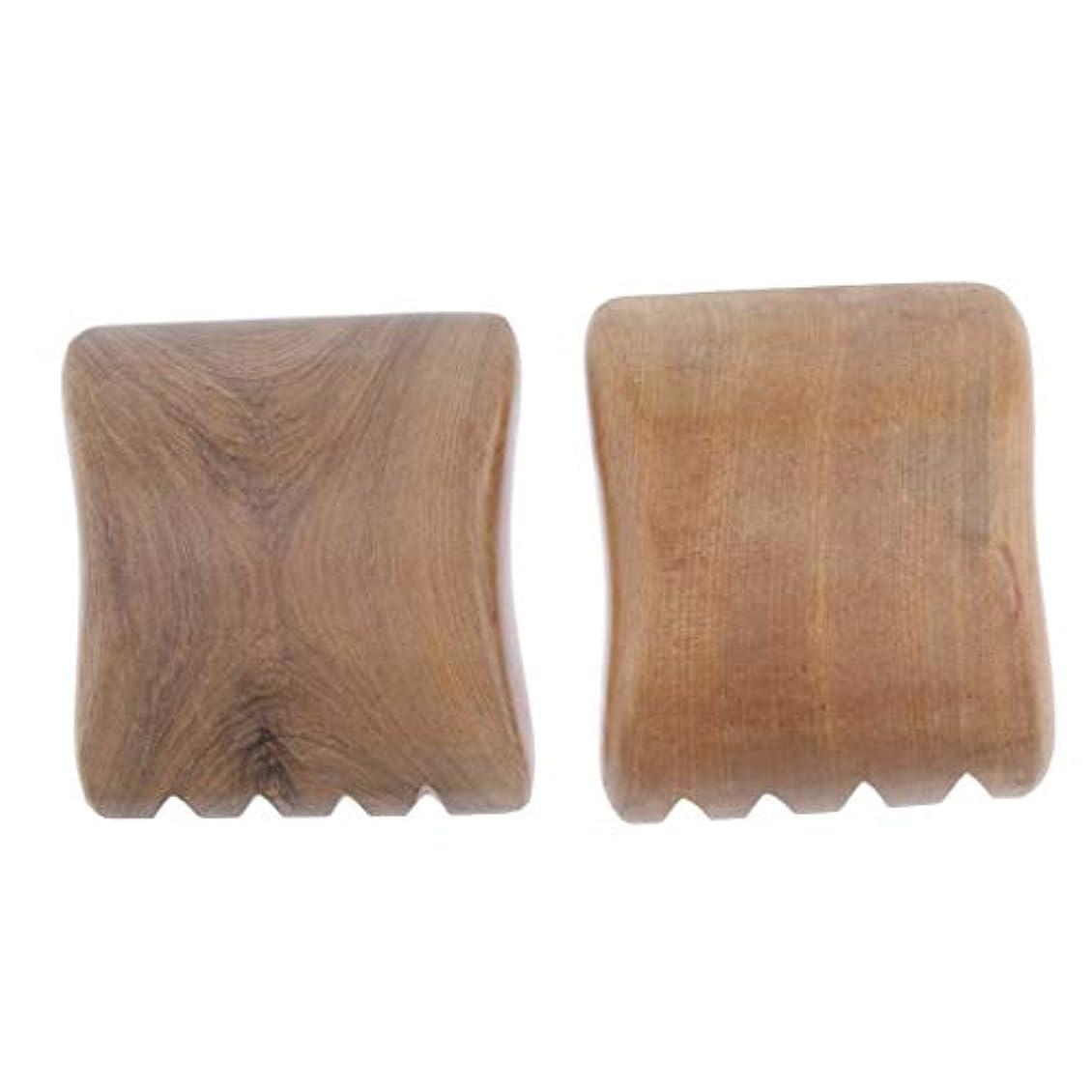 貨物芸術的収束サンダルウッド ポータブル 軽量 かっさプレート 美顔 ボディ マッサージ 使いやすい 4種選ぶ - 4